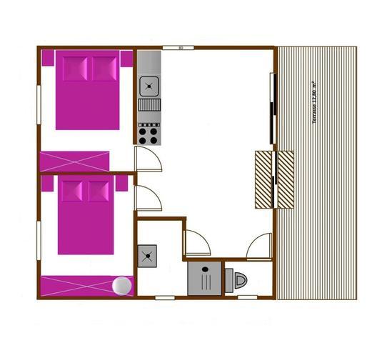 Chalet LAPONIA 35m²-3